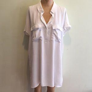 ZARA White Tunic Shirt